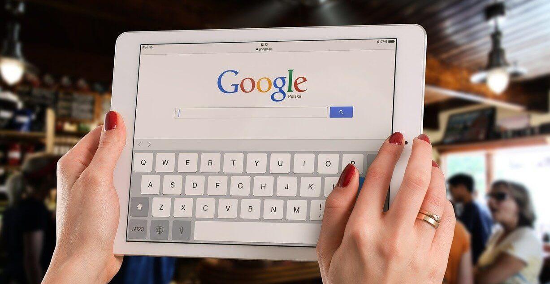 iPad utilizando el navegador de Google